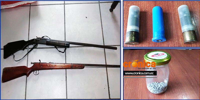 Incautación de armas en Macará