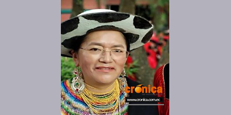María Vicenta Andrade Chalán, candidata a la presidencia de la Conaie.